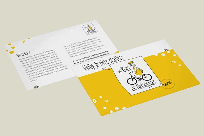 Bas de fietsoppas - campagne - flyer