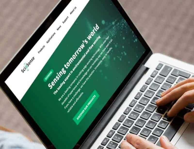 sciosence homepage webdesign