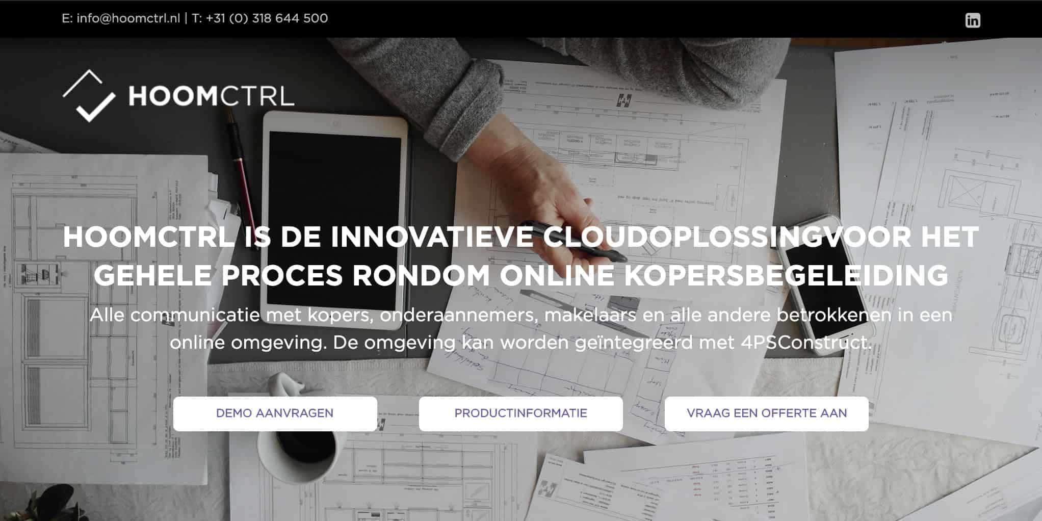 screenshot hoomctrl webdesign
